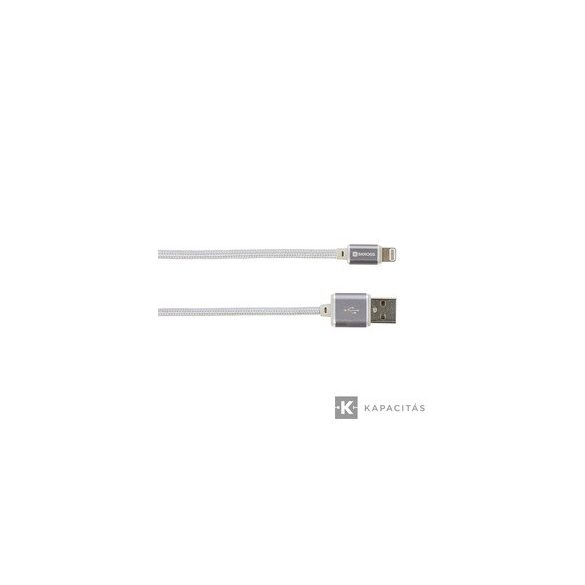 SKROSS Steel Line 2in1 Chargen Sync Micro USB & Lightning kábel 1m