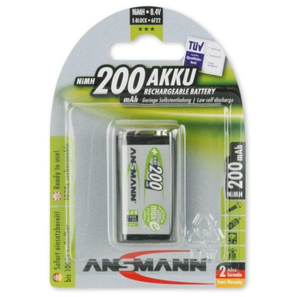 ANSMANN Ni-MH 9V/6LR61 200 mAh akkumulátor 1 db/csomag