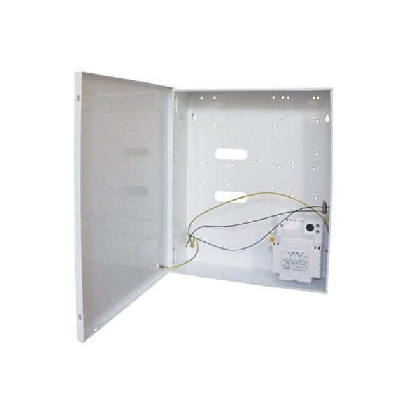SATEL AWO256 PULSAR transzformátor szabotázsvédett fém dobozban, 320x400x90mm, tápegység: 50VA