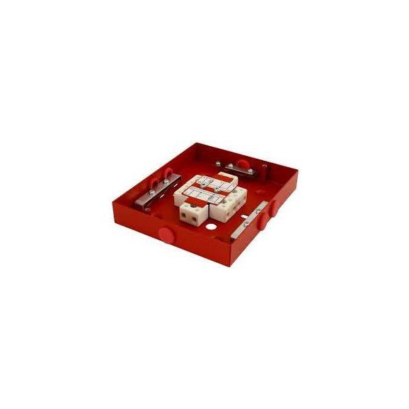 kötődoboz tűzálló 2 biztosítékkal 2×0,375A  (122×142×30 )