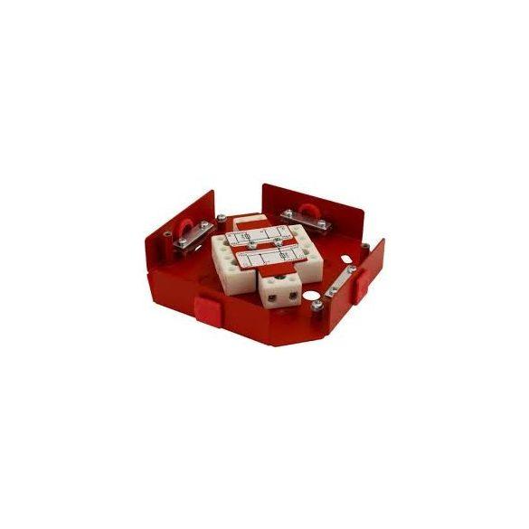 kötődoboz tűzálló 2 biztosítékkal 2×0,375A  (120×120×37 )