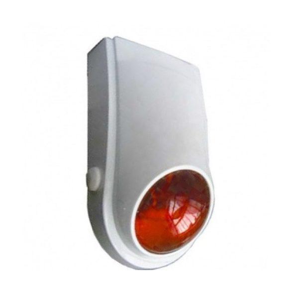 Beltéri műanyag házas hang-fény jelző narancssárga búrával