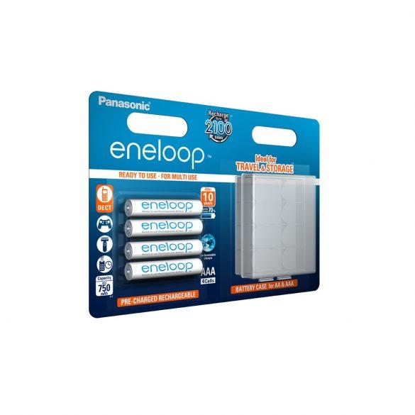 eneloop BK-4MCCEC/4BE AAA 750mAh Ni-MH akkumulátor + tok