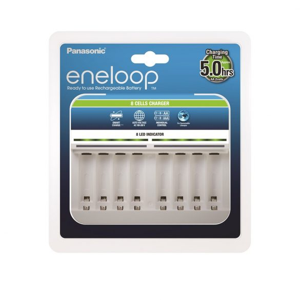 eneloop BQ-CC63 1/8db AA/AAA akkumulátor töltésére
