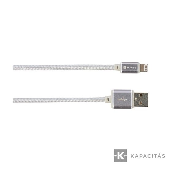 SKROSS Steel Line Chargen Sync Lightning 1m USB kábel