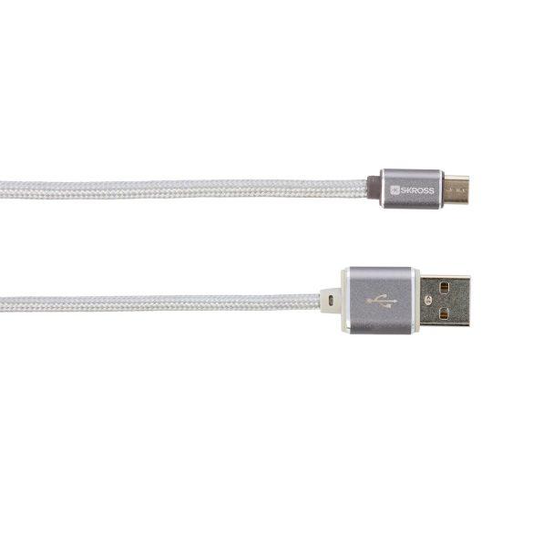 SKROSS Steel Line Chargen Sync Micro 1m USB kábel