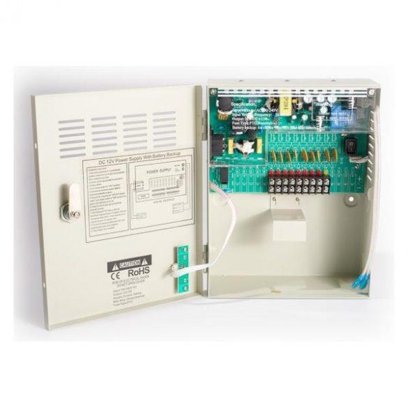 TÁPEGYSÉG Dobozolt 9Ch-UPS-CCTV-Power 12VDC-10A