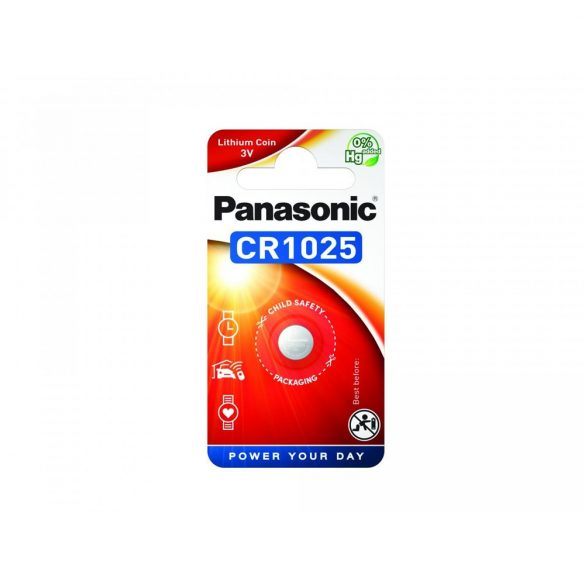 Panasonic CR1025 3V lítium gombelem 1db/csomag