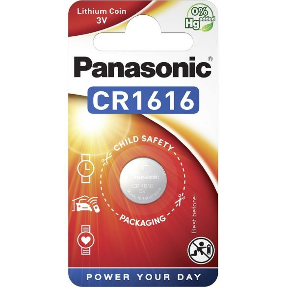 Panasonic CR1616 3V lítium gombelem 1db/csomag
