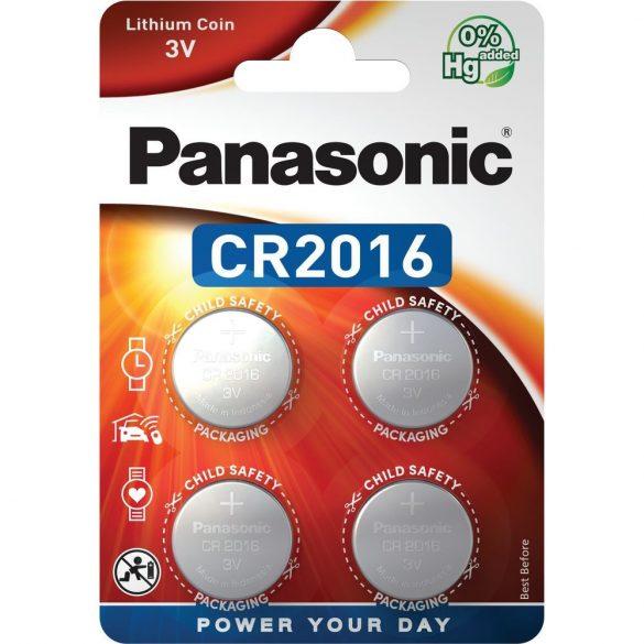 Panasonic CR2016 3V lítium gombelem 4db/csomag