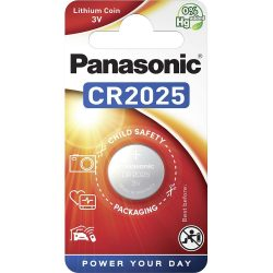 Panasonic CR2025 3V lítium gombelem 1db/csomag