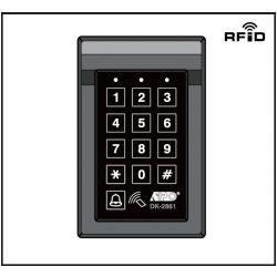 KÓDZÁR DK2861 beépített kártyaolvasóval 1 relé + 1 csengő kimenet