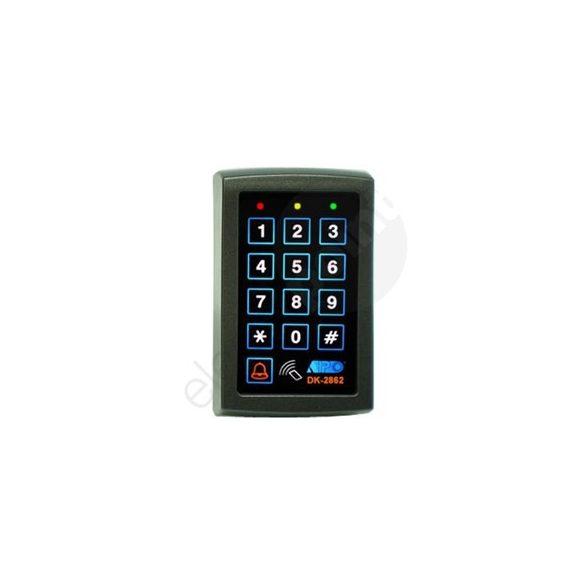 KÓDZÁR DK2862 beépített kártyaolvasóval 2 relé + open coll. kimenet 1 csengő kimenet