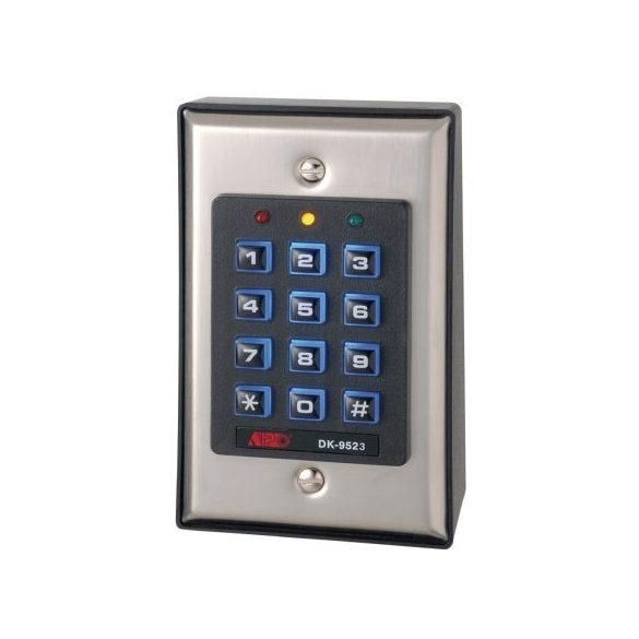 KÓDZÁR 12/24V AC/DC, 120 felhasználói kód, 3 független relé, kitám. és erősz. ajtónyitás figyelés