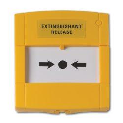 KÉZI JELZÉSADÓ 1 VÁLTÓKONTAKT. (fali doboz nélkül) sárga /DMN700Y/