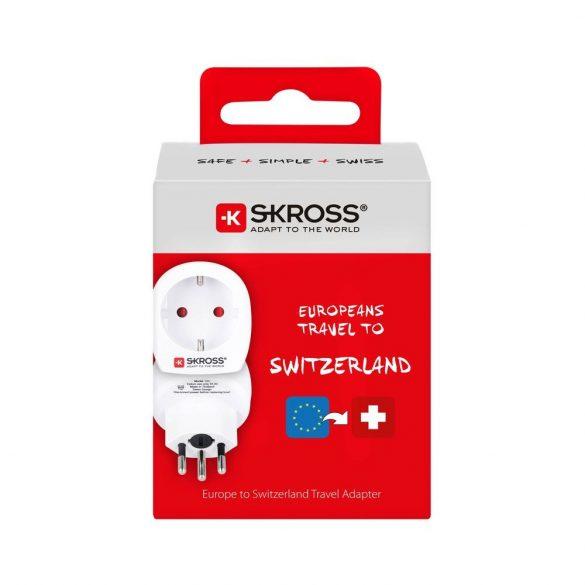 SKROSS csatlakozó átalakító Svájcba utazóknak