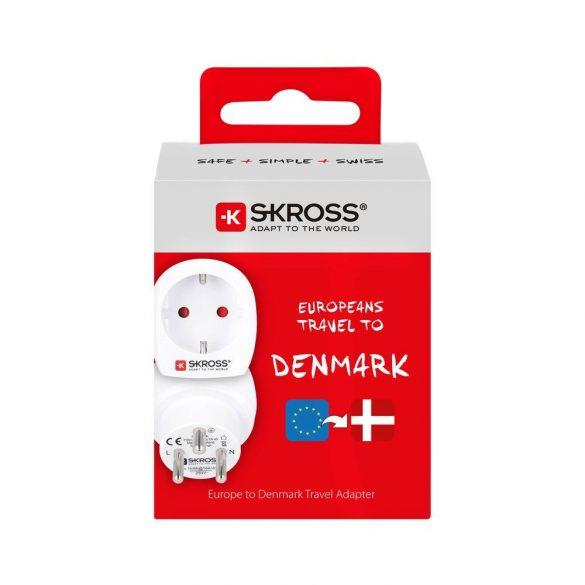 SKROSS csatlakozó átalakító Dániába utazóknak