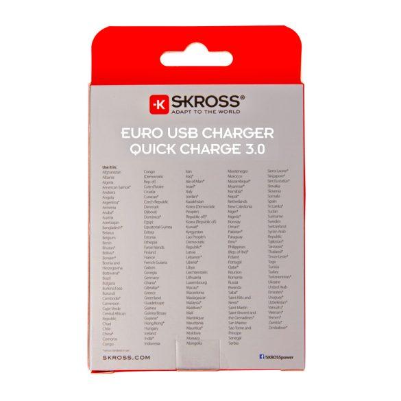 SKROSS EU USB 3.0 gyorstöltő 3A max.