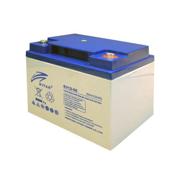12V 50Ah elektromos járműmeghajtó akkumulátor RITAR