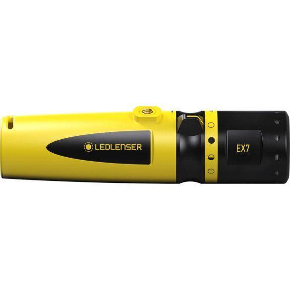 LEDLENSER EX7 Robbanásbiztos ATEX lámpa 200 lm, CRI65, 0/20 zóna, 3xAA