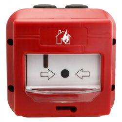 GLOBAL FIRE MCPECIP67 hagyományos kézi jelzésadó, KÜLTÉRRE, IP67 védelem