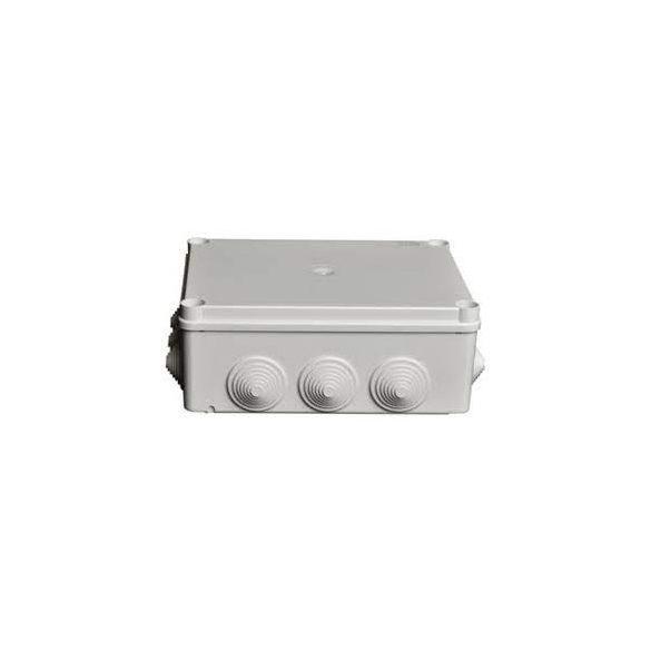 DOBOZ 150 X 110 X 70mm UV ÁLLÓ szürke gumibevezetővel IP56