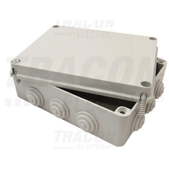 DOBOZ /240 X 190 X 90 mm szürke/ gumibevezetővel IP56