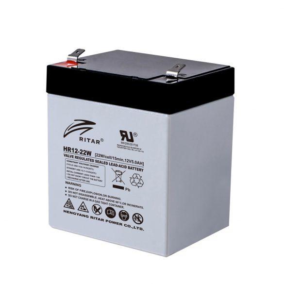 Ritar HR12-22W-F2 12V 5,5Ah nagy áramú zárt ólomakkumulátor