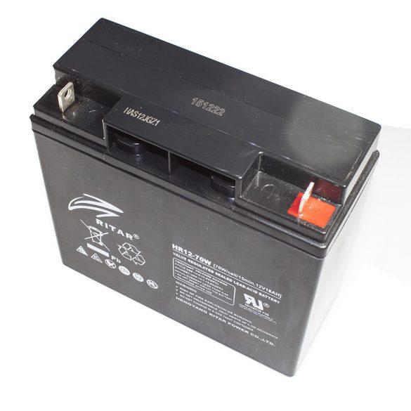 12V 18 Ah AKKUMULÁTOR /Ritar/ High Rate Nagy áramú