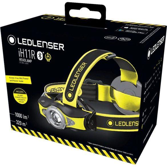 LEDLENSER IMH11 szürke tölthető fejlámpa Bluetooth 1000 lm 18650