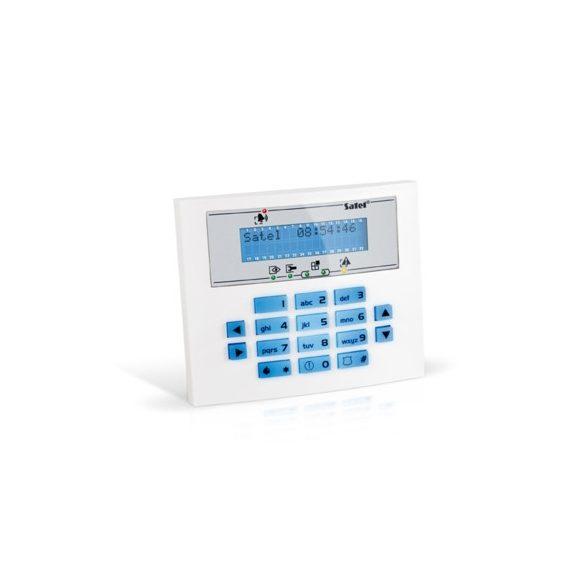 SATEL INT-KLCDS-BL LCD kezelő INTEGRA központokhoz; kék háttérfény és kijelző