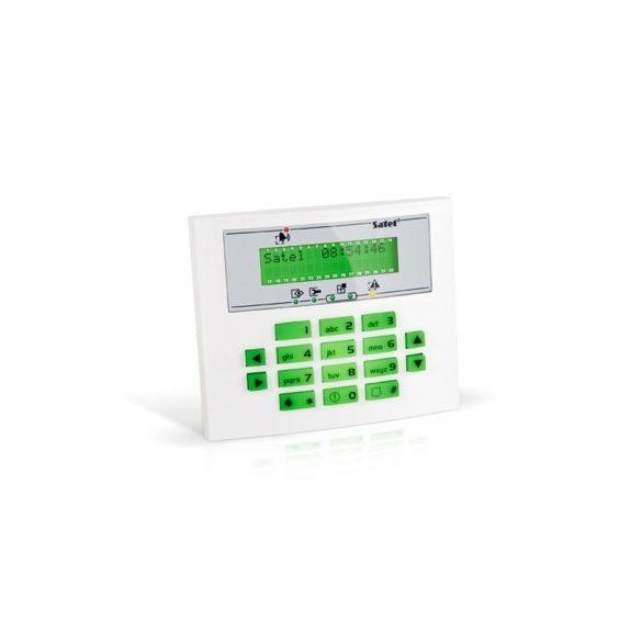 SATEL INT-KLCDS-GR LCD kezelő INTEGRA központokhoz; zöld háttérfény és kijelző