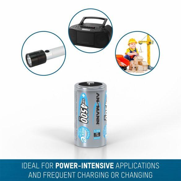 ANSMANN maxE Ni-MH C/baby 4500 mAh alacsony önkisülésű akkumulátor 2db/csomag