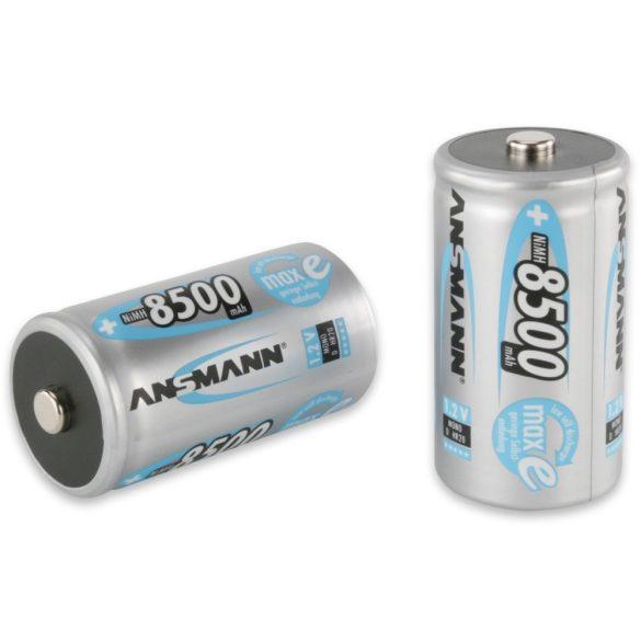 ANSMANN maxE Ni-MH D/góliát 8500 mAh alacsony önkisülésű akkumulátor 2db/csomag