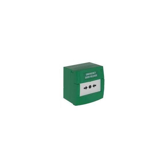 KÉZI JELZÉSADÓ /MCP3A-G01/ zöld színű 1 váltókontaktussal zöld aljzattal együtt