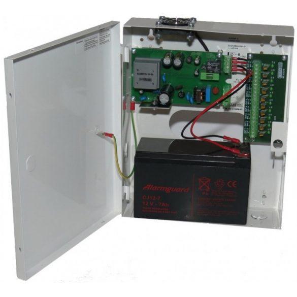 TÁPEGYSÉG Dobozolt szünetmentesíthető; 230VAC/12VDC-13.8VDC; 10A; akkumulátor töltés