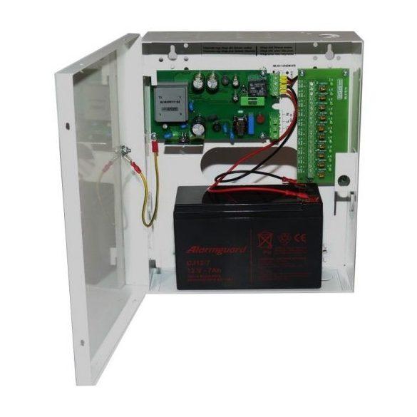 TÁPEGYSÉG Dobozolt szünetmentesíthető; 230VAC/12VDC-13.8VDC; 5A; akkumulátor töltés
