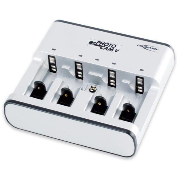 ANSMANN töltő Photocam V AAA, AA, C, D, 9V blokk akkuk töltésére