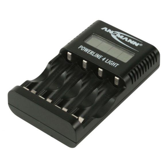 ANSMANN akkumulátortöltő 4x AA és AAA NiMH akkuhoz - cellafigyelés / csepptöltés / LCD / USB Powerli