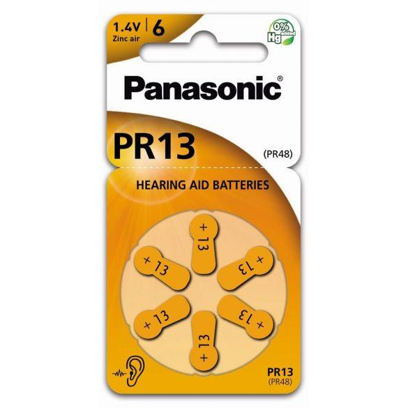 Panasonic PR13L/6LB cink-levegő elem, PR48 (6 db / bliszter)