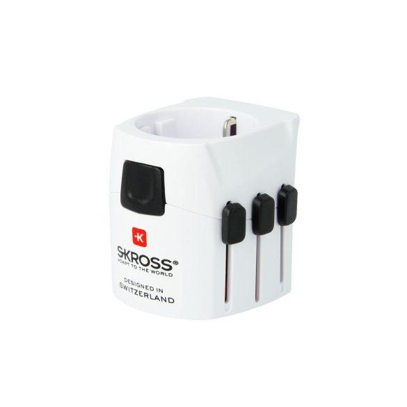 Skross PRO LIGHT, hálózati csatlakozó átalakító, földelt