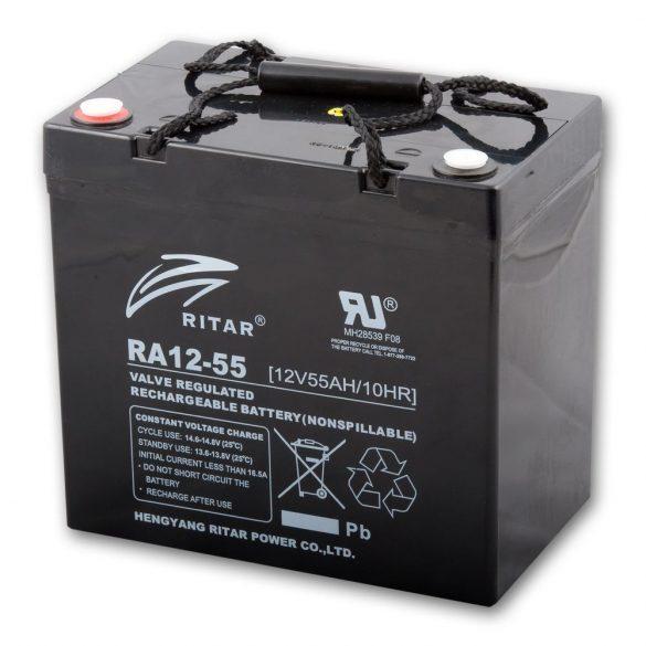 12V / 55Ah Ritar F11 zárt ólomakkumulátor_x000D_