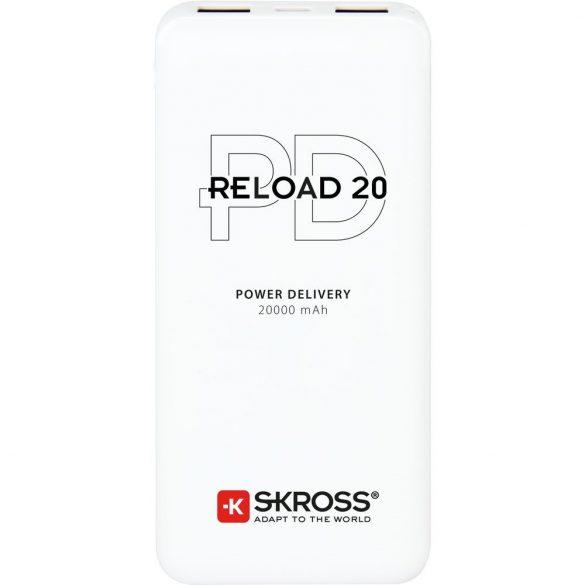 SKROSS Reload20 20Ah power bank USB/microUSB kábellel, két kimenettel