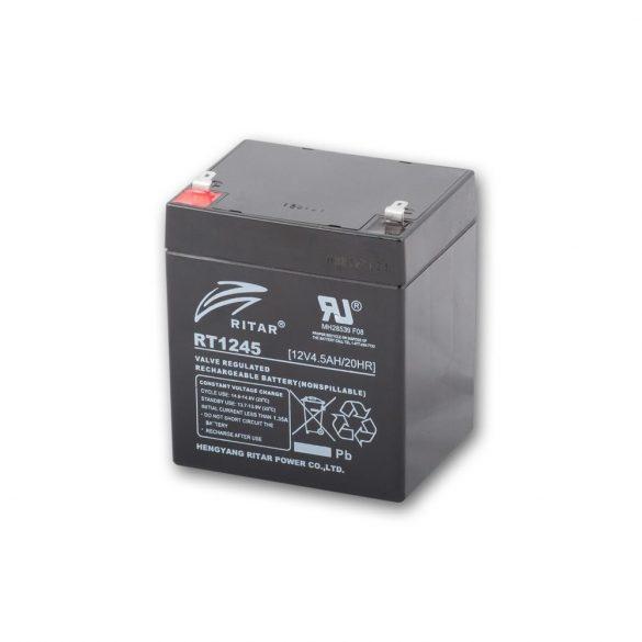 Ritar RT1245E-F1 12V 4,5Ah zárt ólomakkumulátor