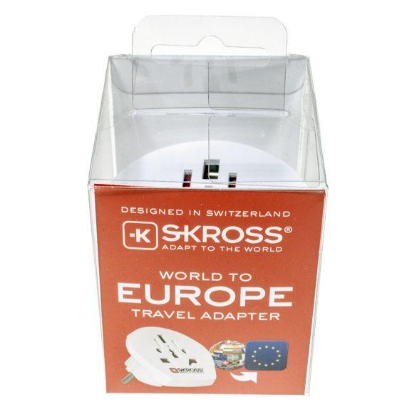 SKROSS 1.500211-2 World to Europe - csatlakozó átalakító európába utazóknak (dobozos)