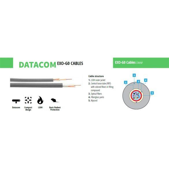 Optikai kül-beltéri kábel, Fibrain EXO-G0 LSOH SM (G.652D) 4szál
