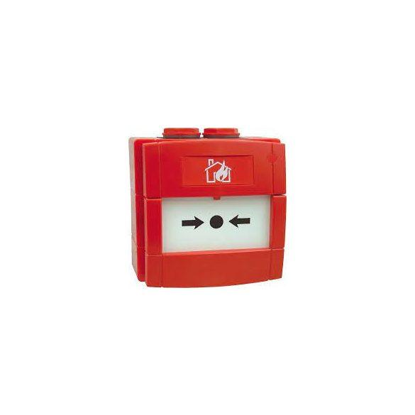 KÉZI JELZÉSADÓ /Kültéri/IP67 piros 2 váltó kontaktus
